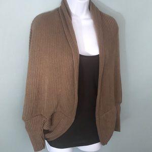 Sweaters - NWT Khaki Soft Open Front Shrug Sweater